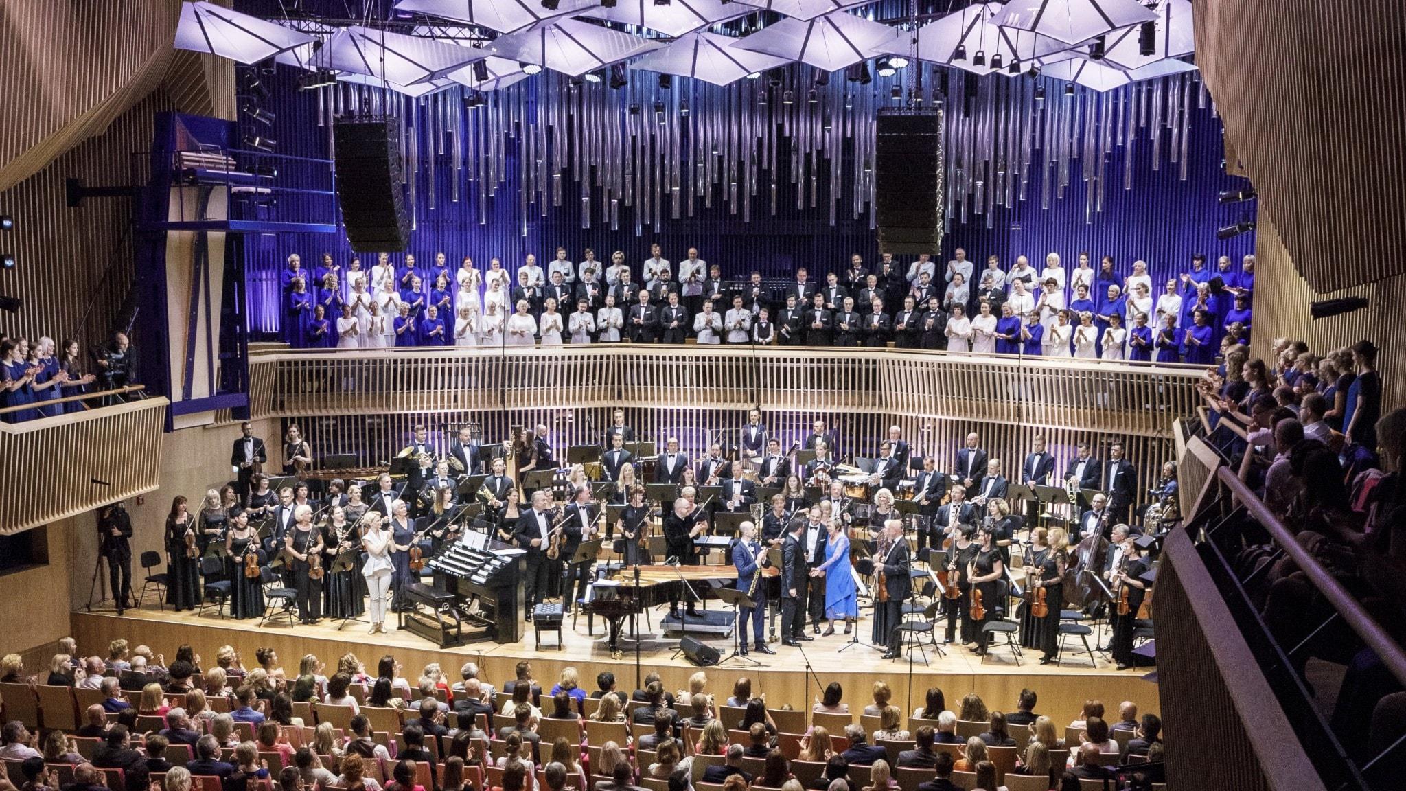 Invigning för Latvija-salen med lettisk musik