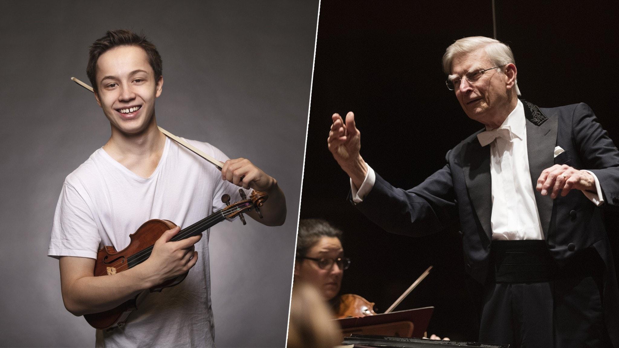 Maestro Blomstedt och Johan Dalene
