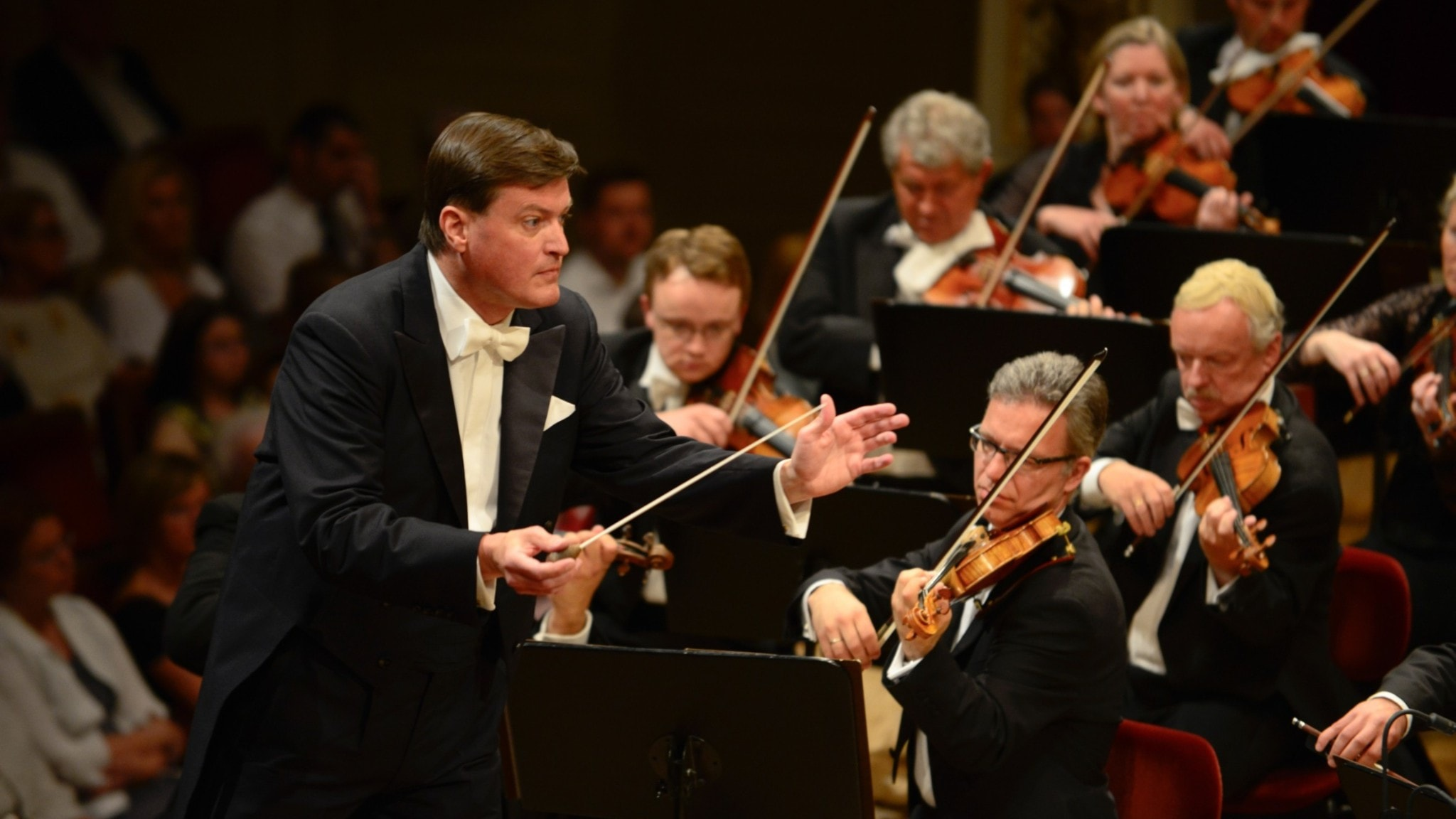 Dirigenten Christian Thielemann och Dresdens statskapell