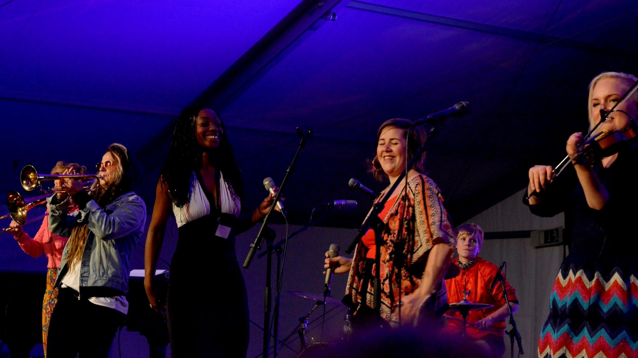 Sallyswag på Bangen jazz och blues-festival 2017.
