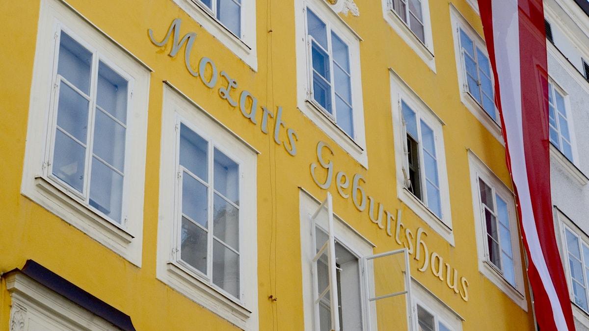 Mozarts födelsehus i Salzburg, Österrike.