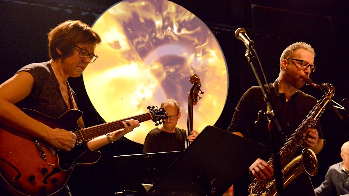 Sandra Hempel/Fredrik Nordström Quartet i Umeå Jazzstudio.