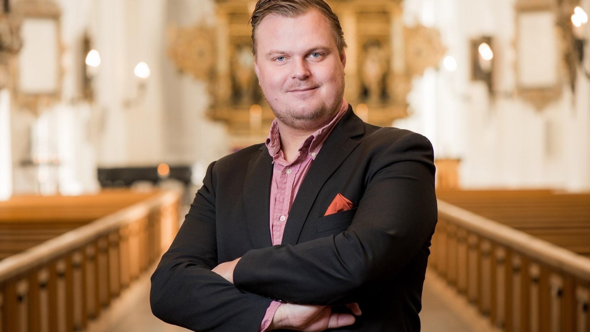 Bild: Carl Adam Landström, organist.