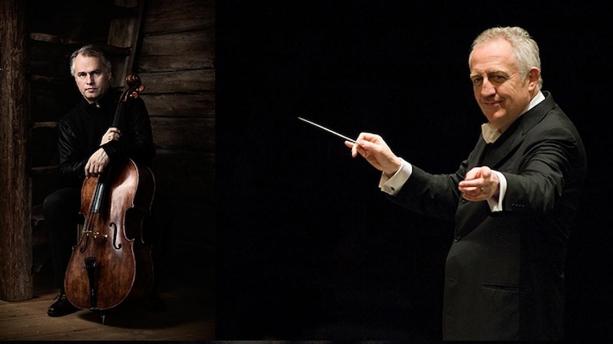 Cellisten Torleif Thedéen och dirigenten Bramwell Tovey.