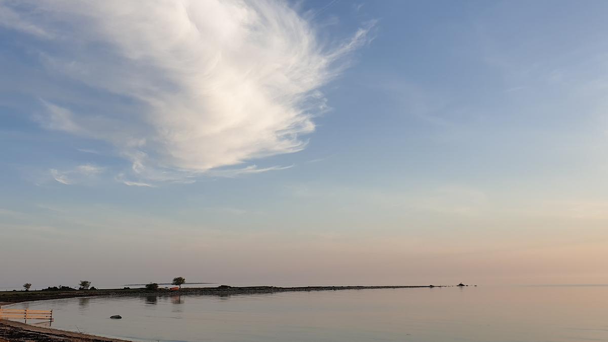 Kvällshimmel över Karlsöarna maj 2019