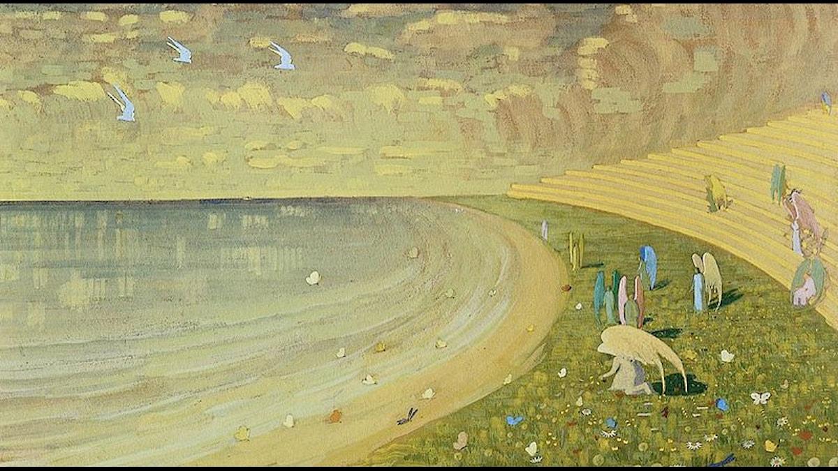 Änglar, 1909 (beskuren) av Mikalojus Konstantinas Ciurlionis.
