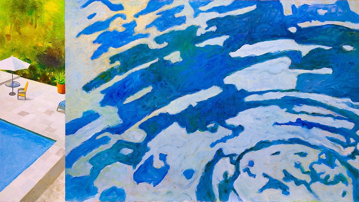 Vattenvärld Målning av Mats Ceder