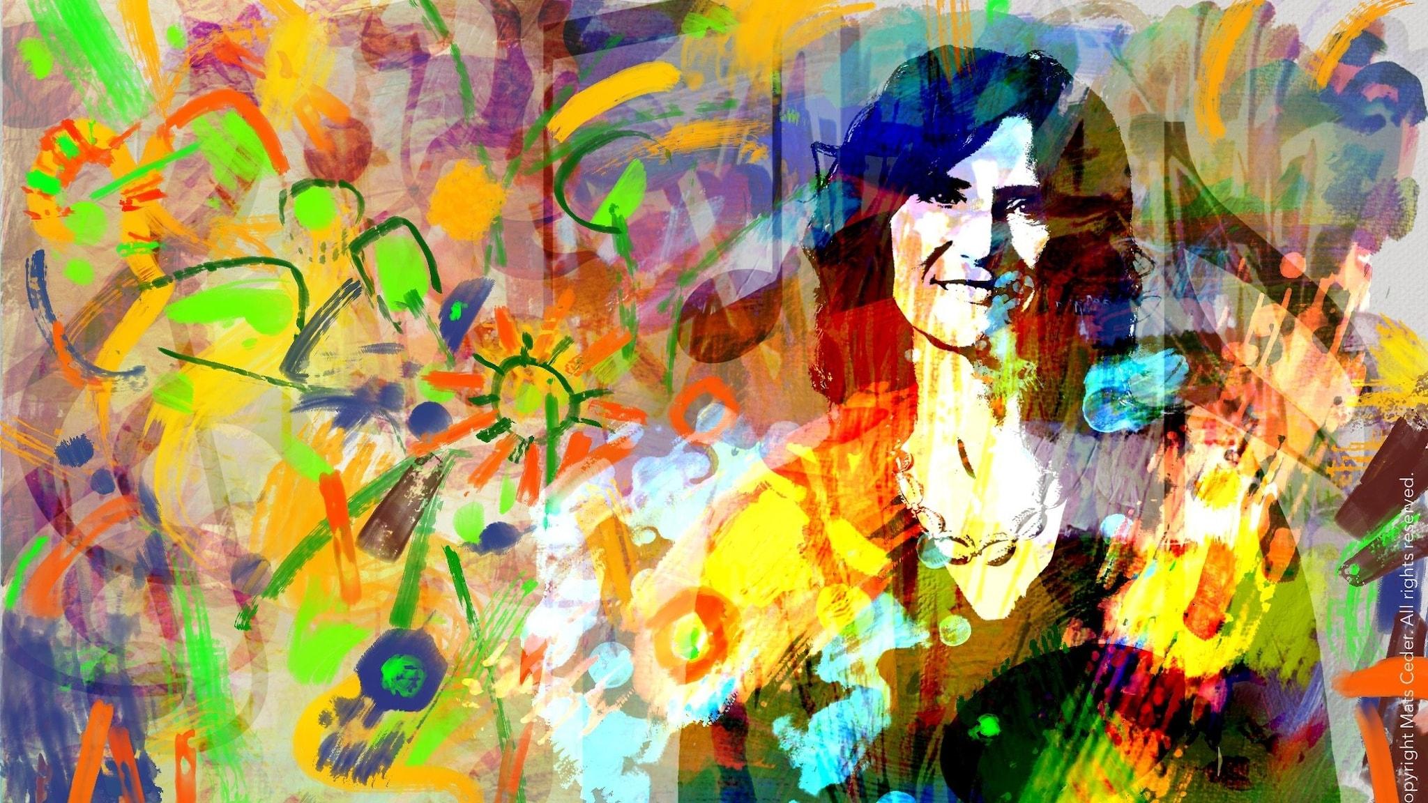 Boel Adler i vårfärger Foto Mattias Ahlm Illustration Mats Ceder