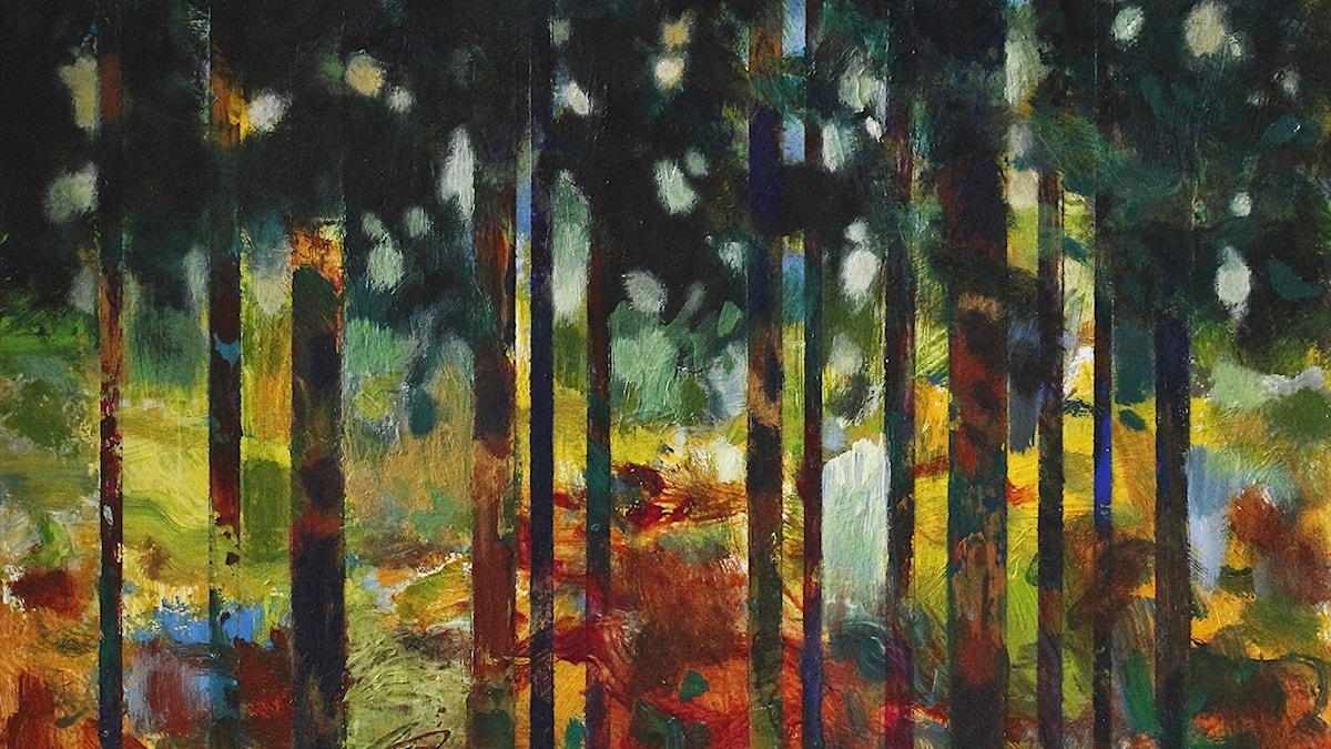 Skogsljus Målning av Mats Ceder