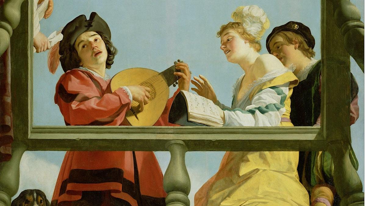 Gerrit van Honthorst-Musiker på balkong