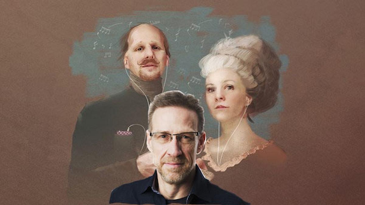 Per Feltzin, Mattias Lundberg och Esmeralda Moberg. Foto: Simon Lundgren/Sveriges Radio. Bilden är ett montage