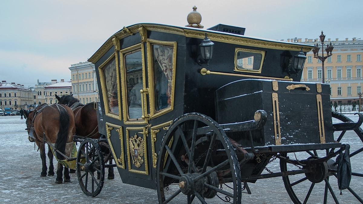 Häst och vagn i Sankt Petersburg