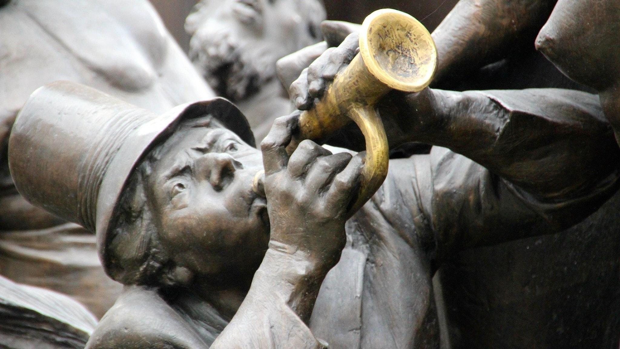Trumpetare - de av skulptur
