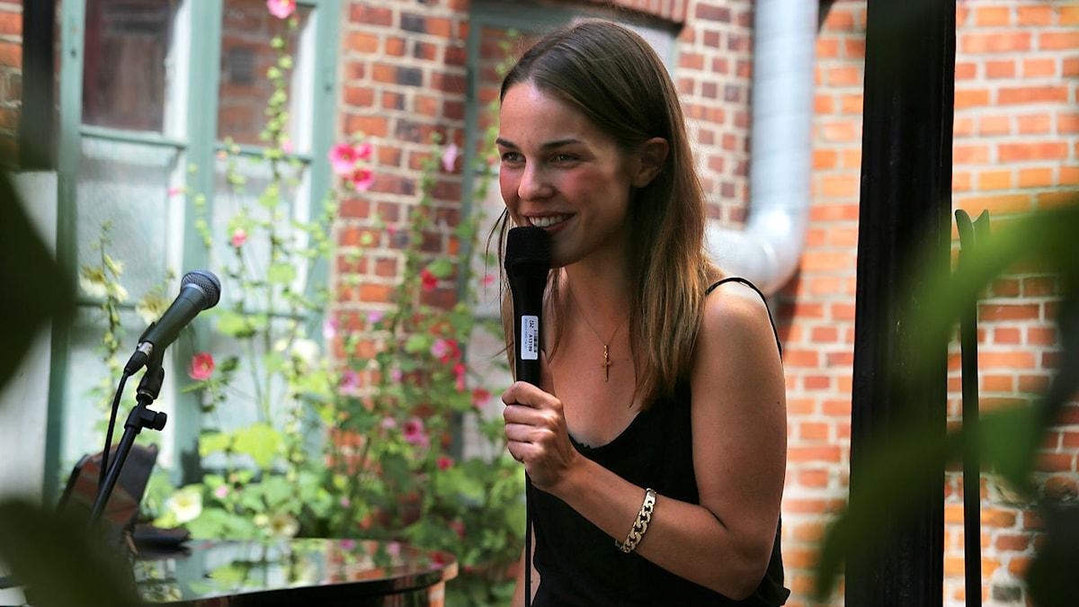 Isabella Lundgren vid Ystad Jazzfestival 2014. Foto: Johannes Lundberg/SR
