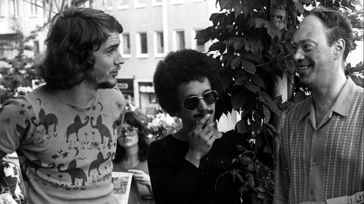 Bobo Stensson, Keith Jarrett och Bengt Hallberg i Molde 1972. Foto: TT