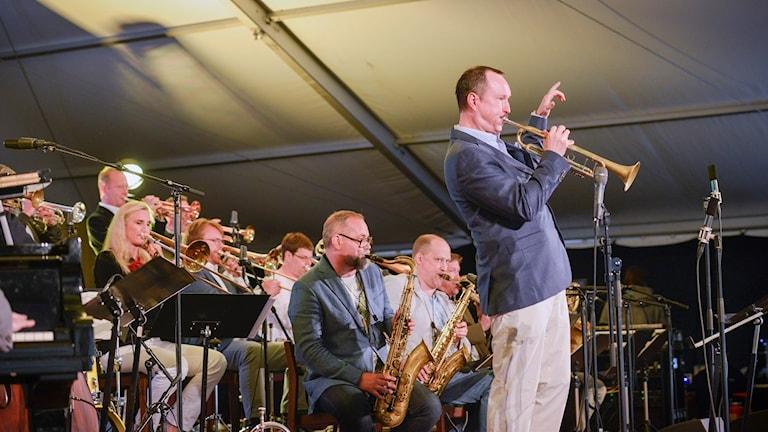 Peter Asplund Big Band bangen Foto Kjell Oscarsson SR