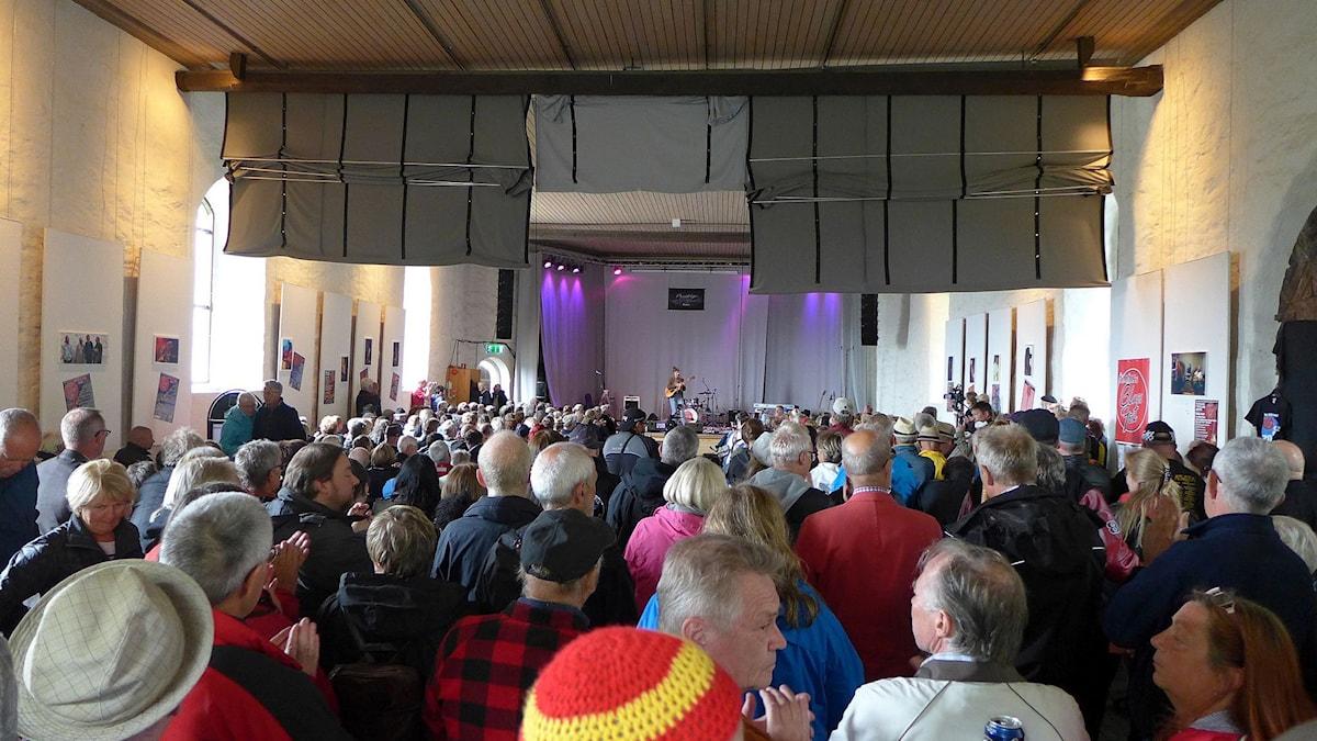 Norska Rita Engedalen vid Åmål's Bluesfest 2015. Foto: Maurice Mogard/Sveriges Radio