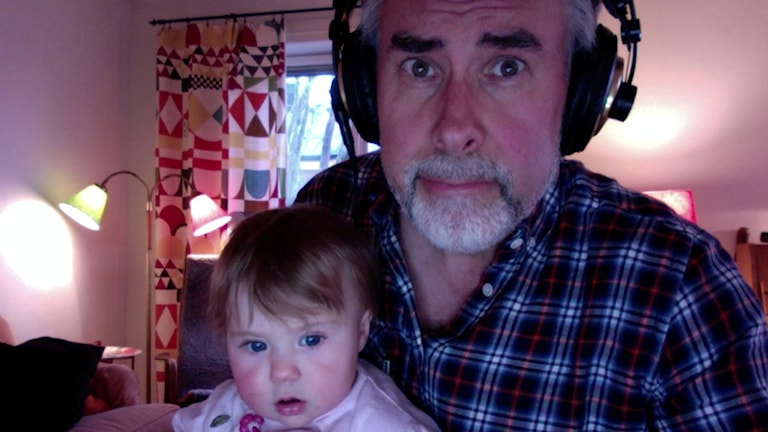 Johan Norberg med dottern Elvira. Foto: Privat
