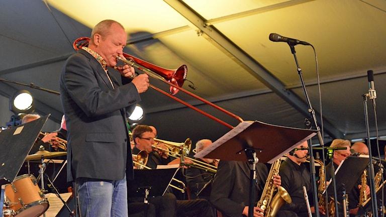 Nils Landgren & Sandviken Big Band på Bangen Jazz & Blues 2015.