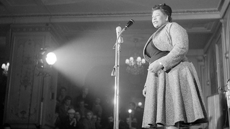 Ella Fitzgerlad på Bal Palais i Stockholm i februari 1956