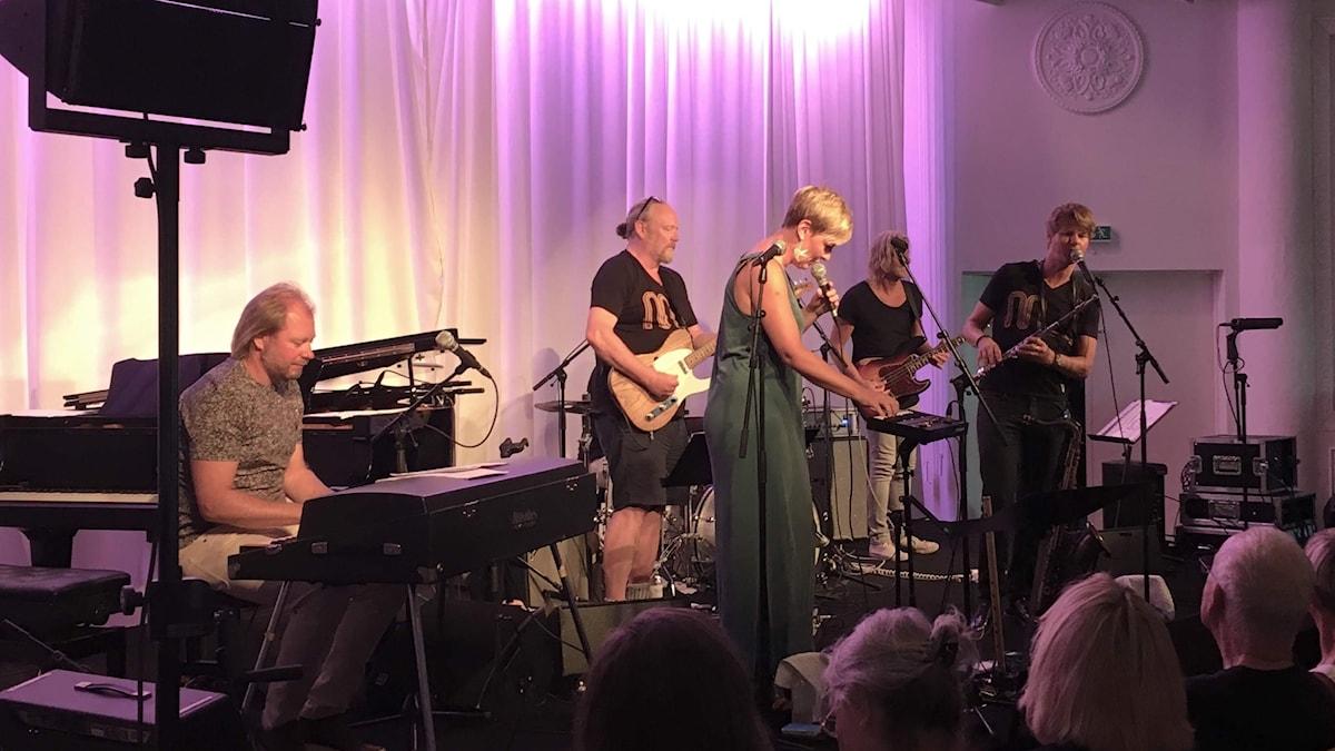Jazzband på scen