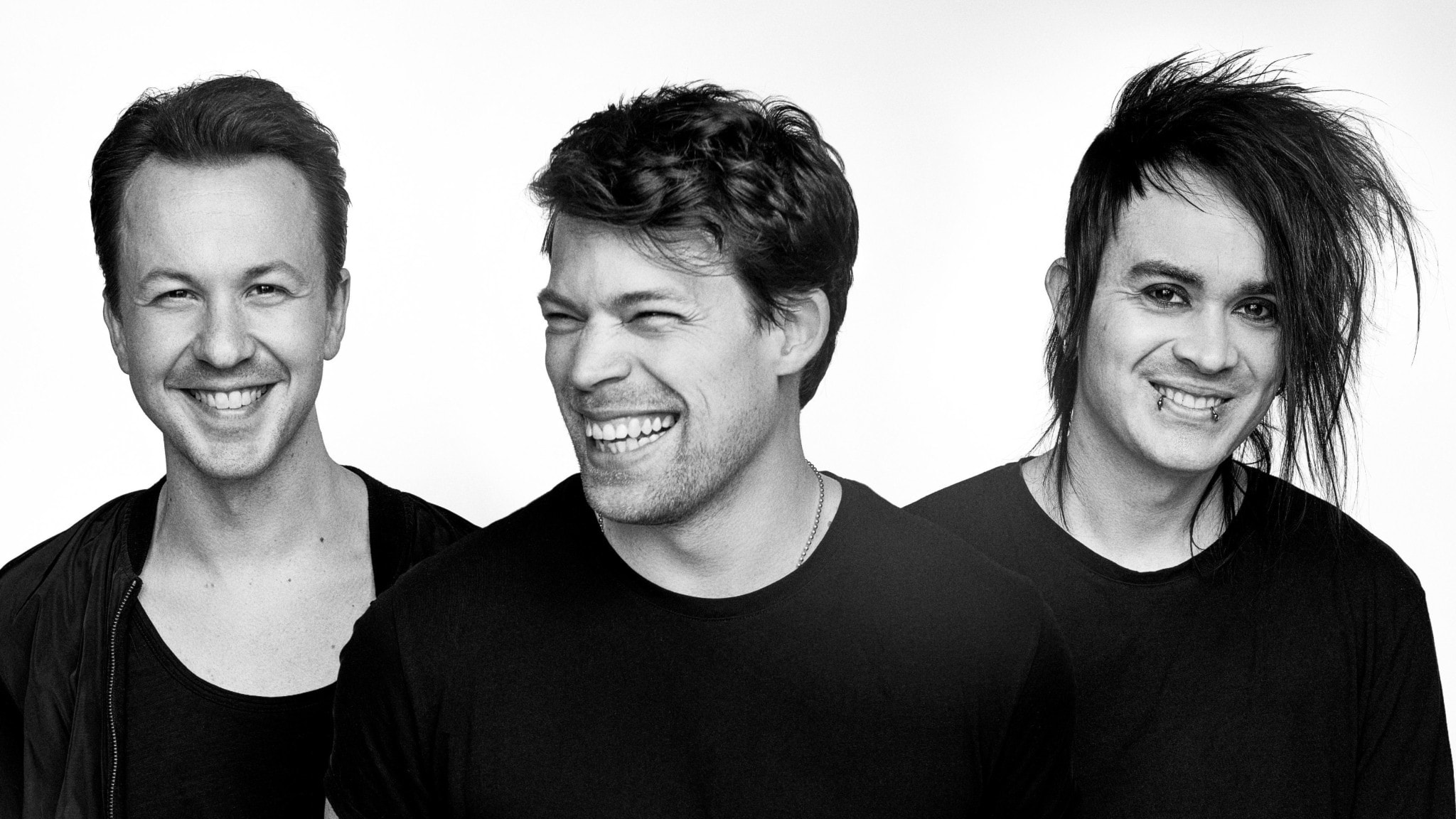Dirty loops. Fr v Aron Mellergårdh, Jonah Nilsson och Henrik Linder. Foto: från Dirty Loops hemsida.