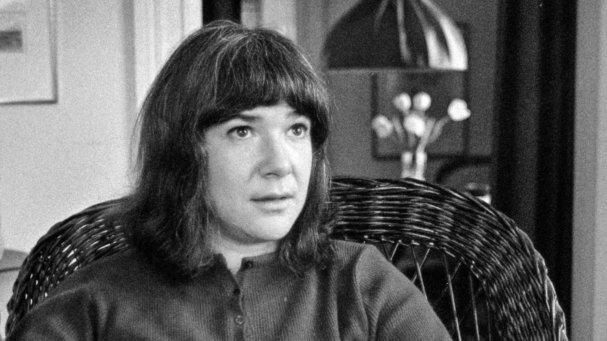 Nannie Porres 1972. Foto: Ulf Stråhle/SVT.
