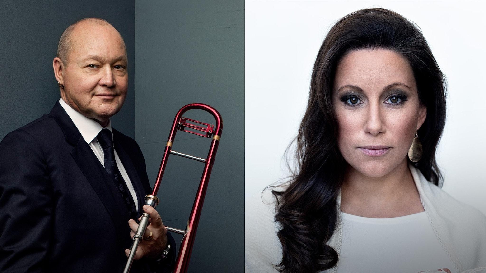 Bild: Nils Landgren och Lisa Nilsson.