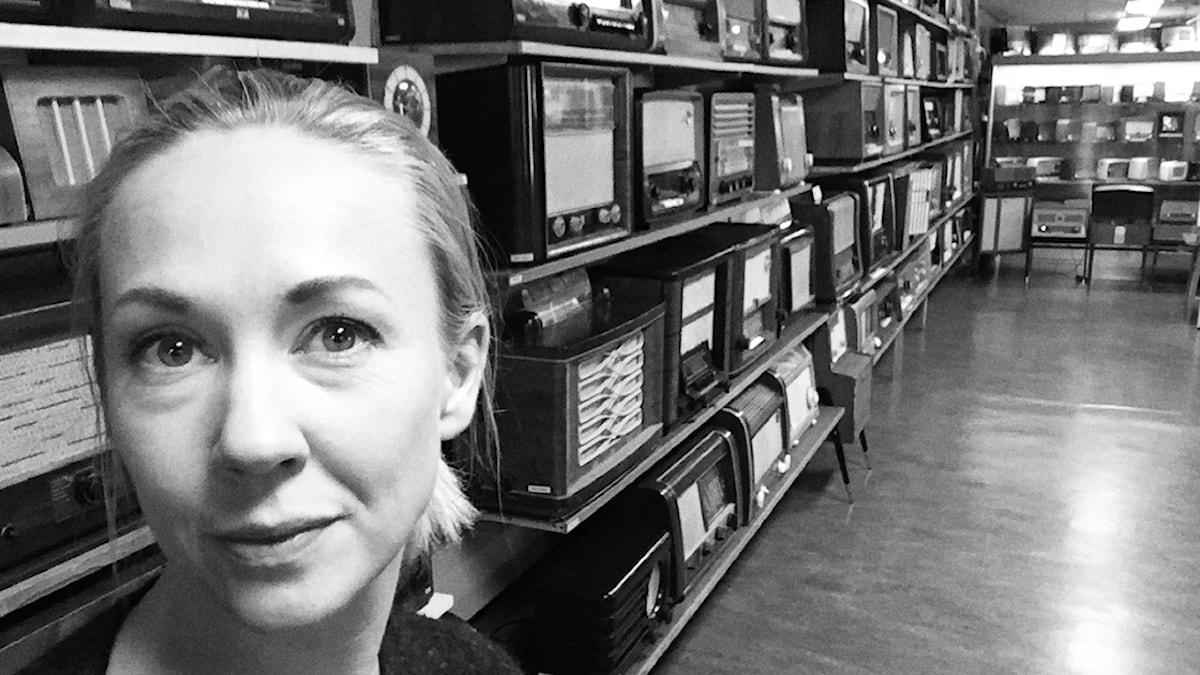 Lisa Nordström på Radiomuseet i Göteborg