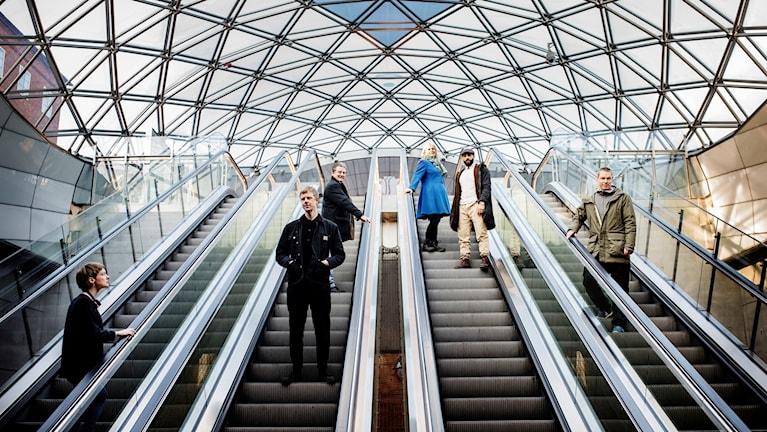 Skåningar i rulltrappan