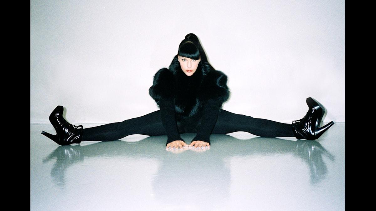 Franska Miss Kittin fotad av Marc Zaffuto