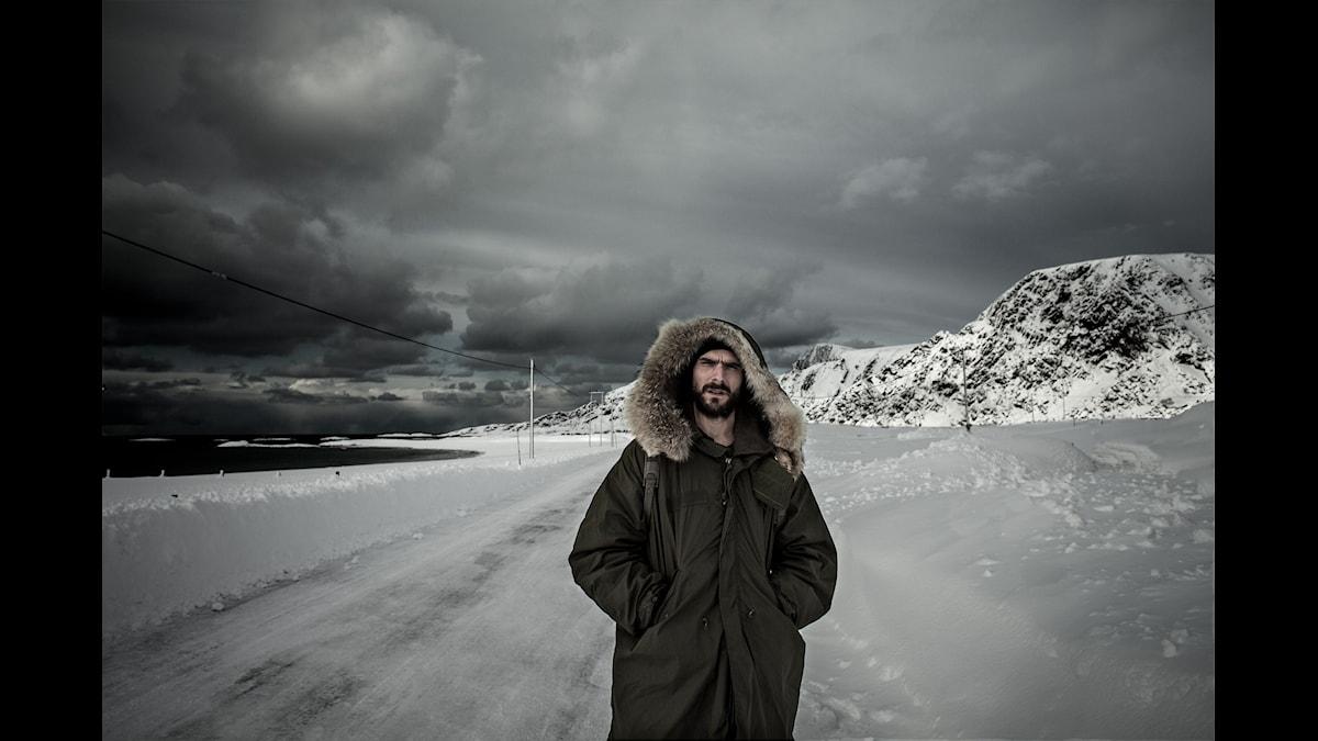 Eric Holm jagar ljud i is, snö och kyla.