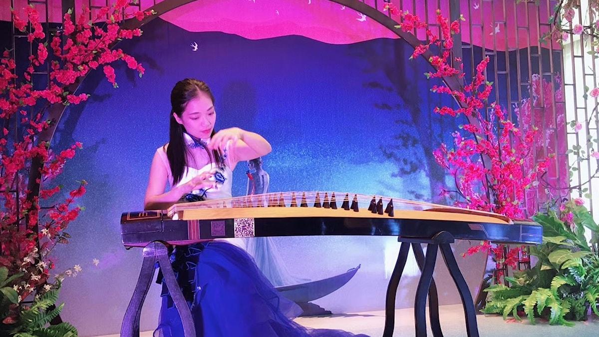 Kinesisk cittra-spelare