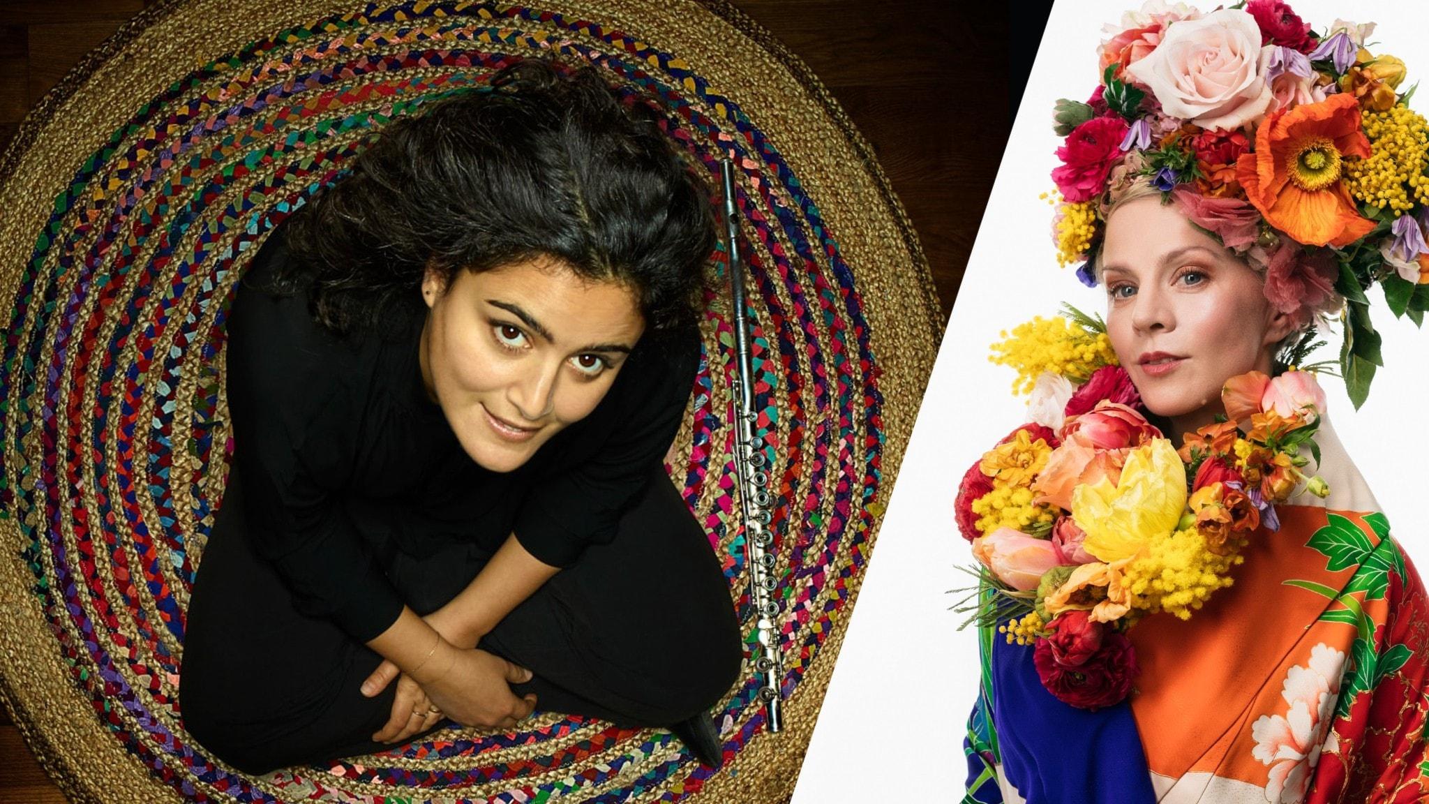 Artisten Naïssam Jalal samt programledaren Esmeralda Moberg