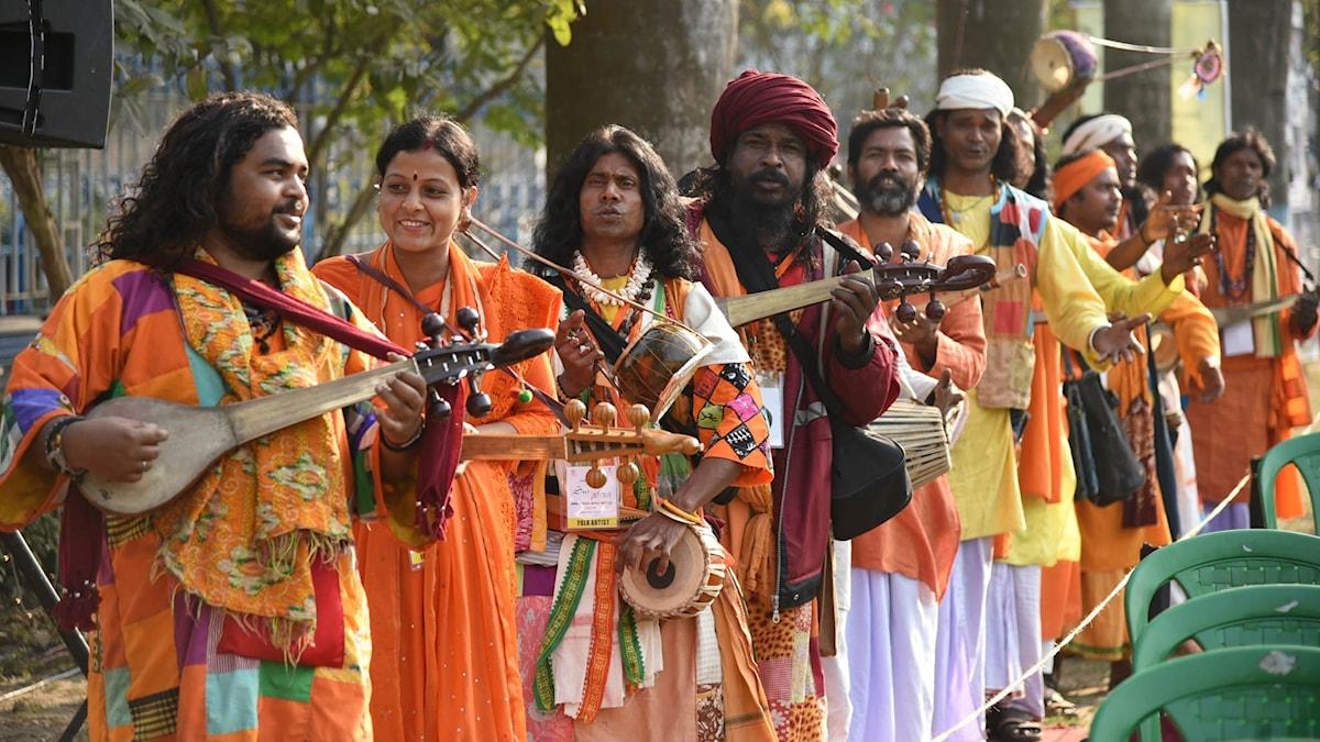 Musiker på festivalen Sur Jahan