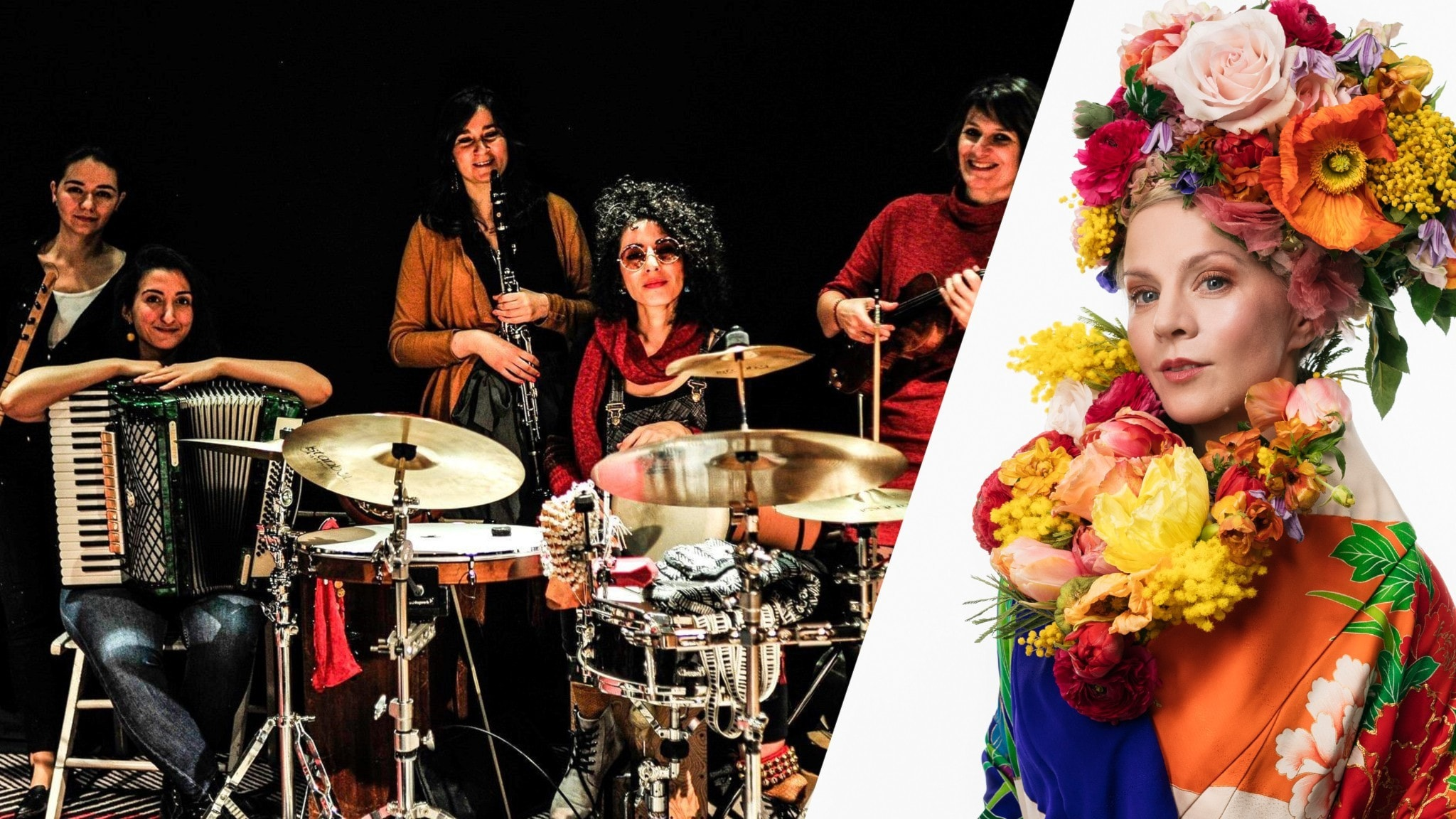 Music Action Lab Women samt programledaren Esmeralda Moberg