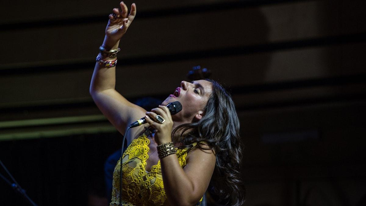 Bea Palya, en av medverkande i Gypsy Heartbeats på Womex 2015