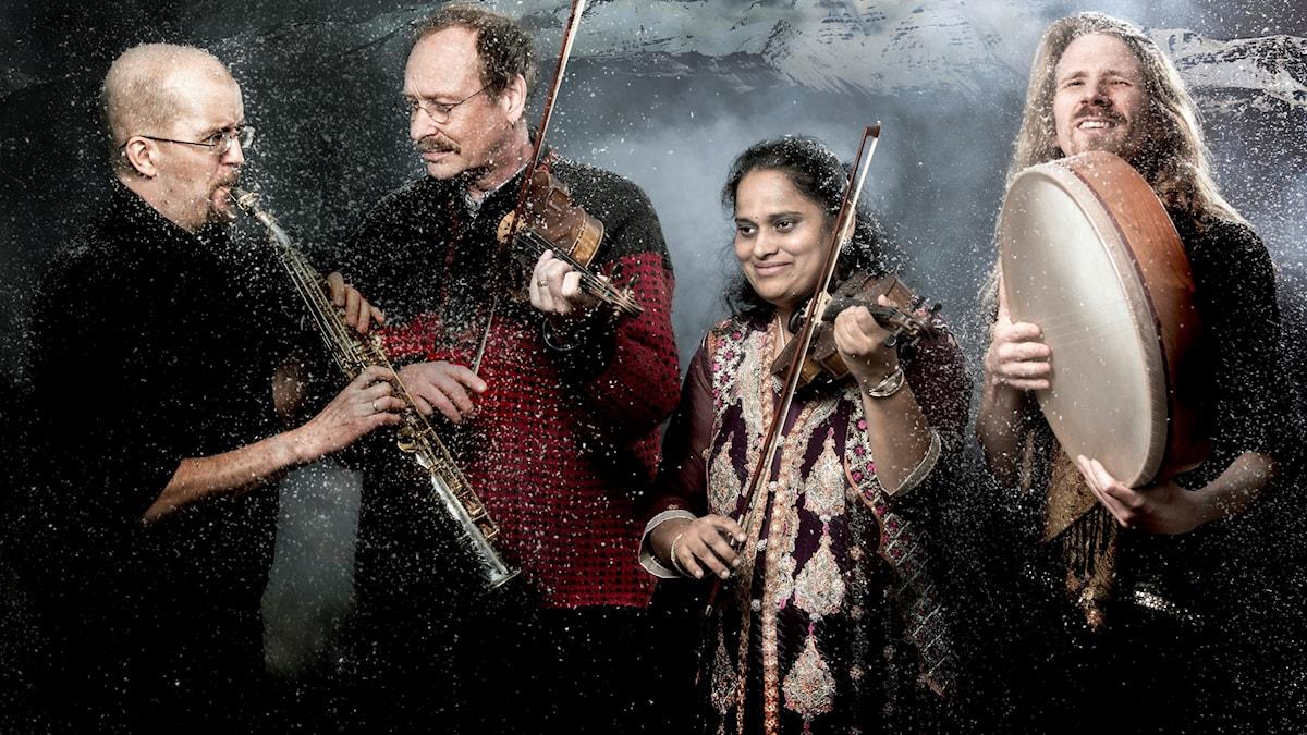 De fyra musikerna i Nordic Raga