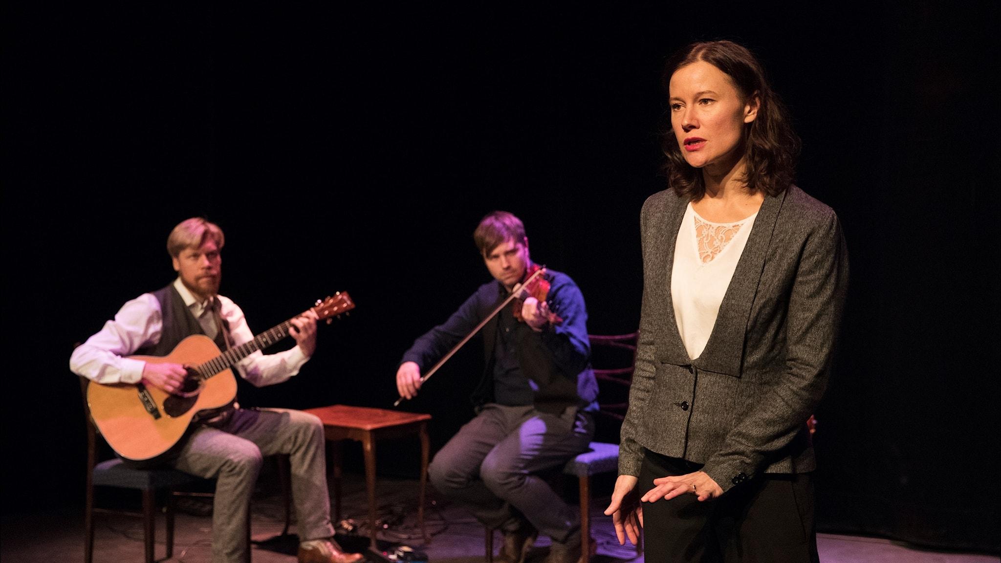 """Malin Foxdal Trio ur föreställningen """"På andra sidan Swede Hollow."""