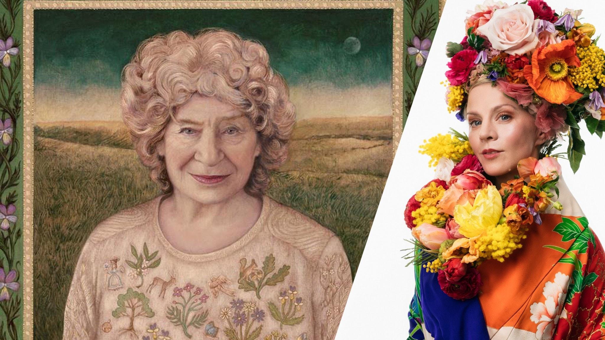 Artisten Shirley Collins och programledaren Esmeralda Moberg
