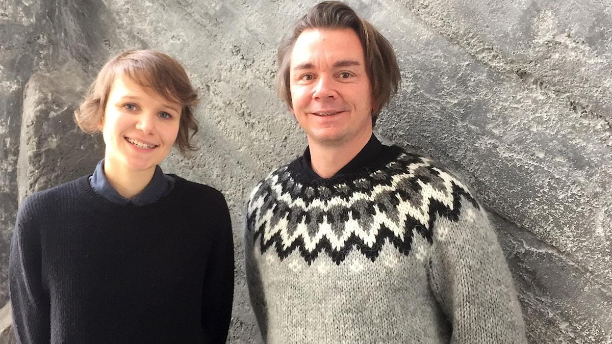Foto på Iiris Viljanen och Emil Jensen