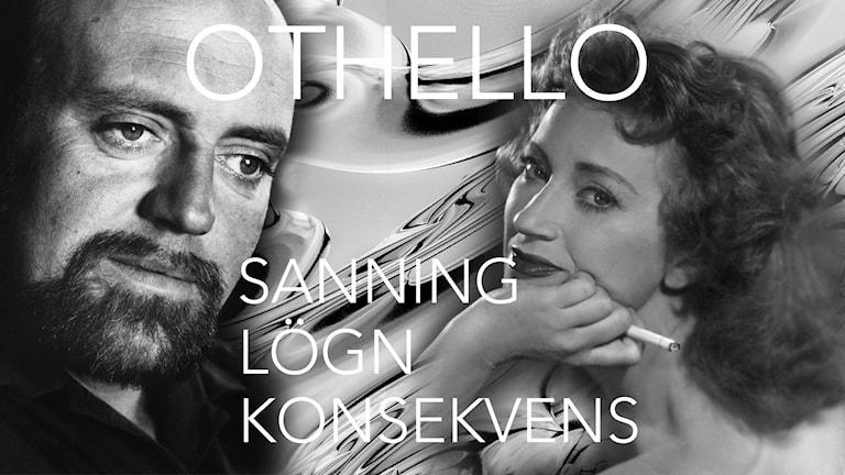 Ulf Palme och Gertrud Fridh i Othello.