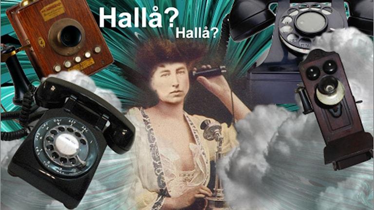 I telefon.