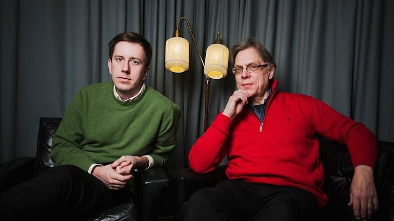 Eric Schüldt och Per Johansson. Foto: Mattias Ahlm/Sveriges Radio