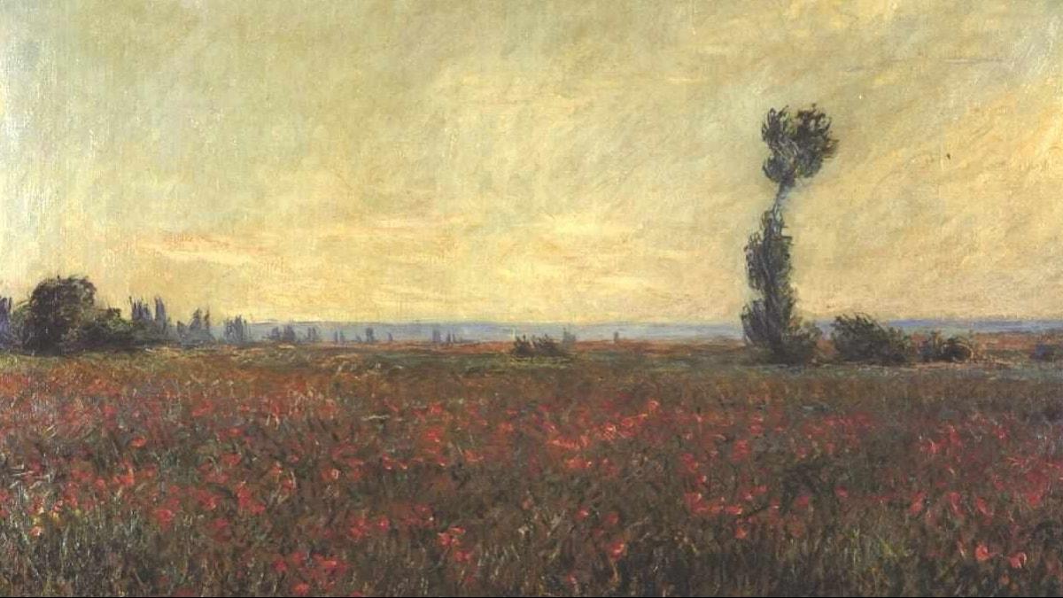 Red Poppy-field / Claude Monet