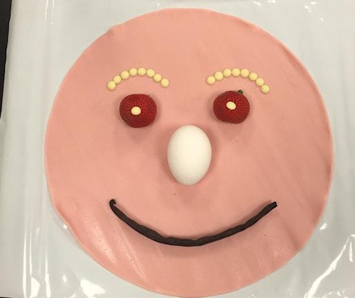 Tårta eller konst? Foto: Emilie Roslund / Sveriges Radio