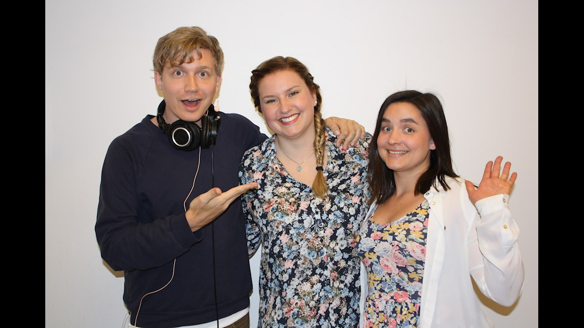 Adrian, Julia & kock-Linn Foto: Emilie Roslund / Sveriges Radio