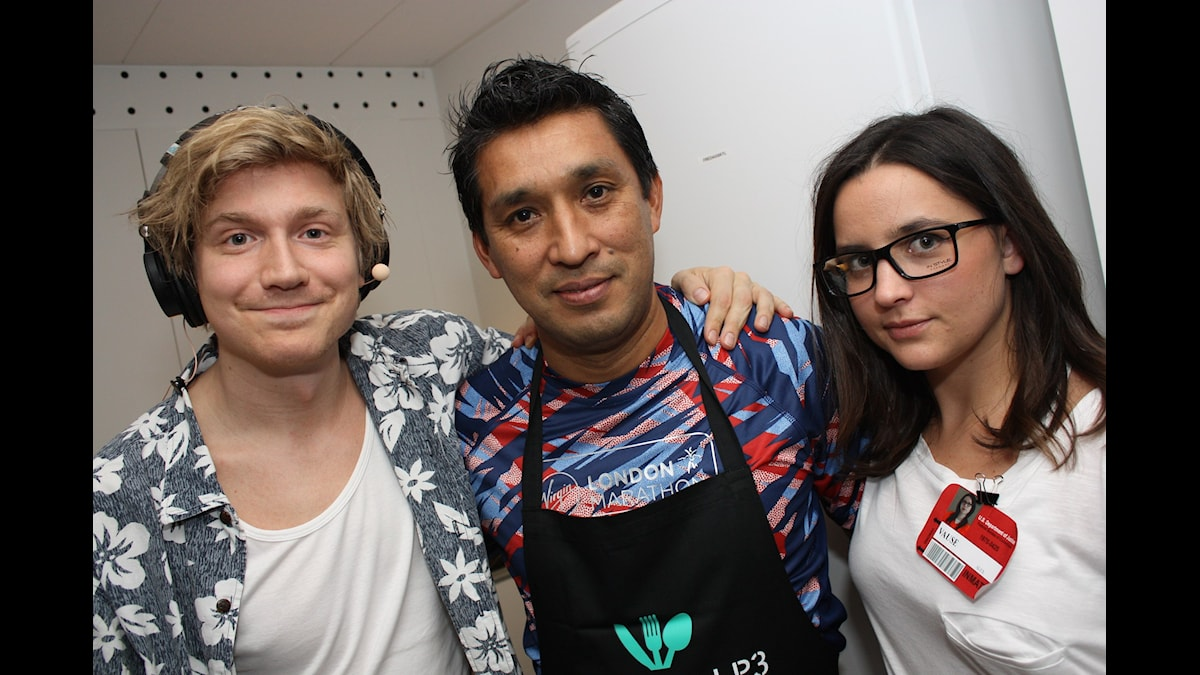 Adrian, Willy och KockLinn! Foto: Emilia Melgar/ SR