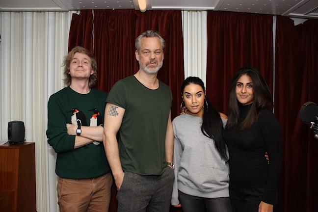 Veckans superhjärnor: Athena, Adrian, Maxida och Henrik (Foto: Jasmin Rastegar / SR)