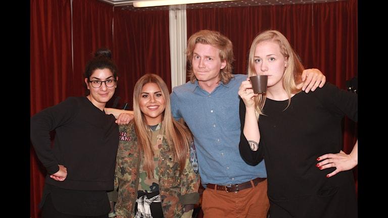 SE vilket genialiskt gäng! Hej Dilan, Arantxa, Adrian och Moa!!!!!! (Foto: Jasmin Rastegar / SR)